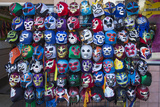 Mexican Wrestling Masks 1 (Store Display in the Mission, San Francisco, CA) Wall Decal by Henri Silberman
