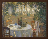La Table Au Soleil Prints by Henri Le Sidaner