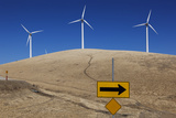 Wind Turbines, Altamont Pass Road (Northern California Landscape) Wall Decal by Henri Silberman