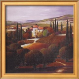 Villa in Tuscany Print by Max Hayslette