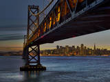 Oakland Bay Bridge with San Francisco Skyline Wall Decal by Henri Silberman