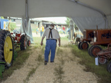 North Carolina State Fair Tractor Exhibit - Rural Farmer in Overalls Wall Decal by Henri Silberman