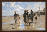 Oyster Gatherers of Cancale Print by John Singer Sargent