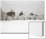 Prospect Park, Brooklyn In Snow - Prospect Park West Buildings Posters by Henri Silberman