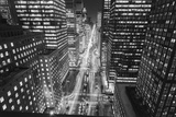 Park Avenue at Night - Aerial View Of Midtown Manhattan Iconic Nyc Wall Decal by Henri Silberman