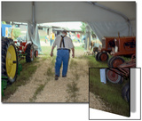 North Carolina State Fair Tractor Exhibit - Rural Farmer in Overalls Prints by Henri Silberman