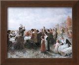 The First Thanksgiving Art by Jean Leon Gerome Ferris