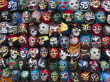 Mexican Wrestling Masks 2 (Store Display in the Mission, San Francisco, CA) Wall Decal by Henri Silberman
