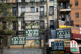Chinatown Billboards (New York Strret Scene) Wall Decal by Henri Silberman