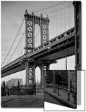 Manhattan Bridge Tower Brooklyn Prints by Henri Silberman