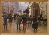 Boulevard des Capucines and The Vaudeville Theatre Posters by Jean Béraud