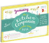 The Kitchen Companion Page-A-Week - 2016 Calendar Pad Calendars
