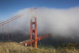 Golden Gate Bridge Tower in Fog 9 Wall Decal by Henri Silberman