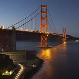 Golden Gate Bridge North View 7 Wall Decal by Henri Silberman
