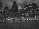 Byrant Park Dusk - Looking South in Bryant Park Manhattan Wall Decal by Henri Silberman