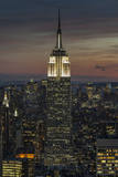 Empire State Building Close-Up, Evening Wall Decal by Henri Silberman