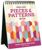 Illustrated Pieces & Patterns Page-A-Month - 2016 Easel Calendar Calendars