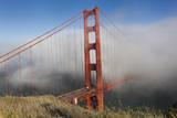 Golden Gate Bridge Tower in Fog 10 Wall Decal by Henri Silberman