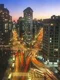 Flat Iron Building With Broadway and Fifth Avenu, Wide Angle - New York City Landmark Aerial View Kalkomania ścienna autor Henri Silberman