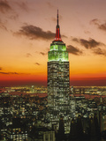 Empire State Building Sunset - New York City Iconic Landmark Building Wall Decal by Henri Silberman