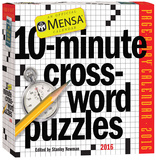 Mensa 10-Minute Crossword Puzzles Page-A-Day - 2016 Boxed Calendar Calendars