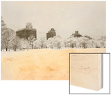 Prospect Park, Brooklyn In Snow - Prospect Park West Buildings Prints by Henri Silberman