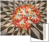 """Imagine"" Memorial Central Park Wood Print by Henri Silberman"
