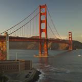 Golden Gate Bridge North View 3 Vinilo decorativo por Henri Silberman