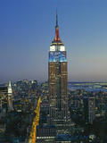 Empire State Building Dusk - New York City Iconic Landmark Building Looking South Wall Decal by Henri Silberman