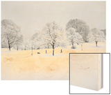Prospect Park, Brooklyn In Snow2 - Winter Scene With Dog Poster by Henri Silberman