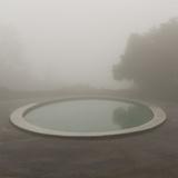 Circular Pond, Joaquin Miller Park, Oakland, CA (Urban Park, Fog) Muursticker van Henri Silberman
