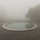 Circular Pond, Joaquin Miller Park, Oakland, CA (Urban Park, Fog) Wall Decal by Henri Silberman