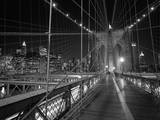 On the Brooklyn Bridge Night Wall Decal by Henri Silberman
