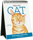 Illustrated Cat Page-A-Month - 2016 Easel Calendar Calendars