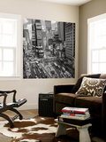 Times Square, NY Afternoon - Aerial View Of Midtown Manhattan Iconic Nyc Wall Mural by Henri Silberman