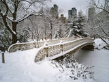 Snow Covered Bridge Central Park Wall Decal by Henri Silberman