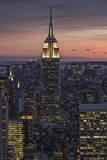City Skyscraper at Twilight Wall Decal by Henri Silberman