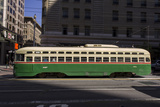 Streetcar on Market Stree, San Francisco, CA (F Line) Wall Decal by Henri Silberman