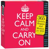 Keep Calm And Carry On Page-A-Day - 2016 Boxed Calendar Kalendáře