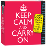 Keep Calm And Carry On Page-A-Day - 2016 Boxed Calendar Calendars