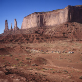 Monument Valley, Arizona Horseback Riders - Iconic Western Landscape Wall Decal by Henri Silberman