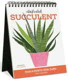 Illustrated Succulent Page-A-Month - 2016 Easel Calendar Calendars