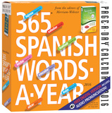 365 Spanish Words-A-Year  Page-A-Day - 2016 Boxed Calendar Calendars