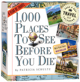 1,000 Places To See Before You Die Color Page-A-Day - 2016 Boxed Calendar Calendars