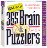 Mensa 365 Brain Puzzlers Page-A-Day - 2016 Boxed Calendar Calendars
