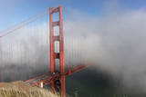 Golden Gate Bridge Tower in Fog 4 Wall Decal by Henri Silberman