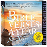 365 Bible Verses-A-Year Color Page-A-Day - 2016 Boxed Calendar Calendars