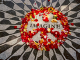 """Imagine"" Memorial Central Park Metal Print by Henri Silberman"