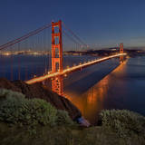Golden Gate Bridge Evening Wall Decal by Henri Silberman