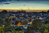 View of Leona Heights at Sunset Wall Decal by Henri Silberman